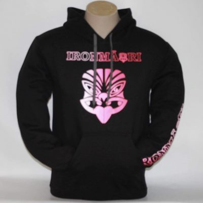 Black Hoodie Pink and white design